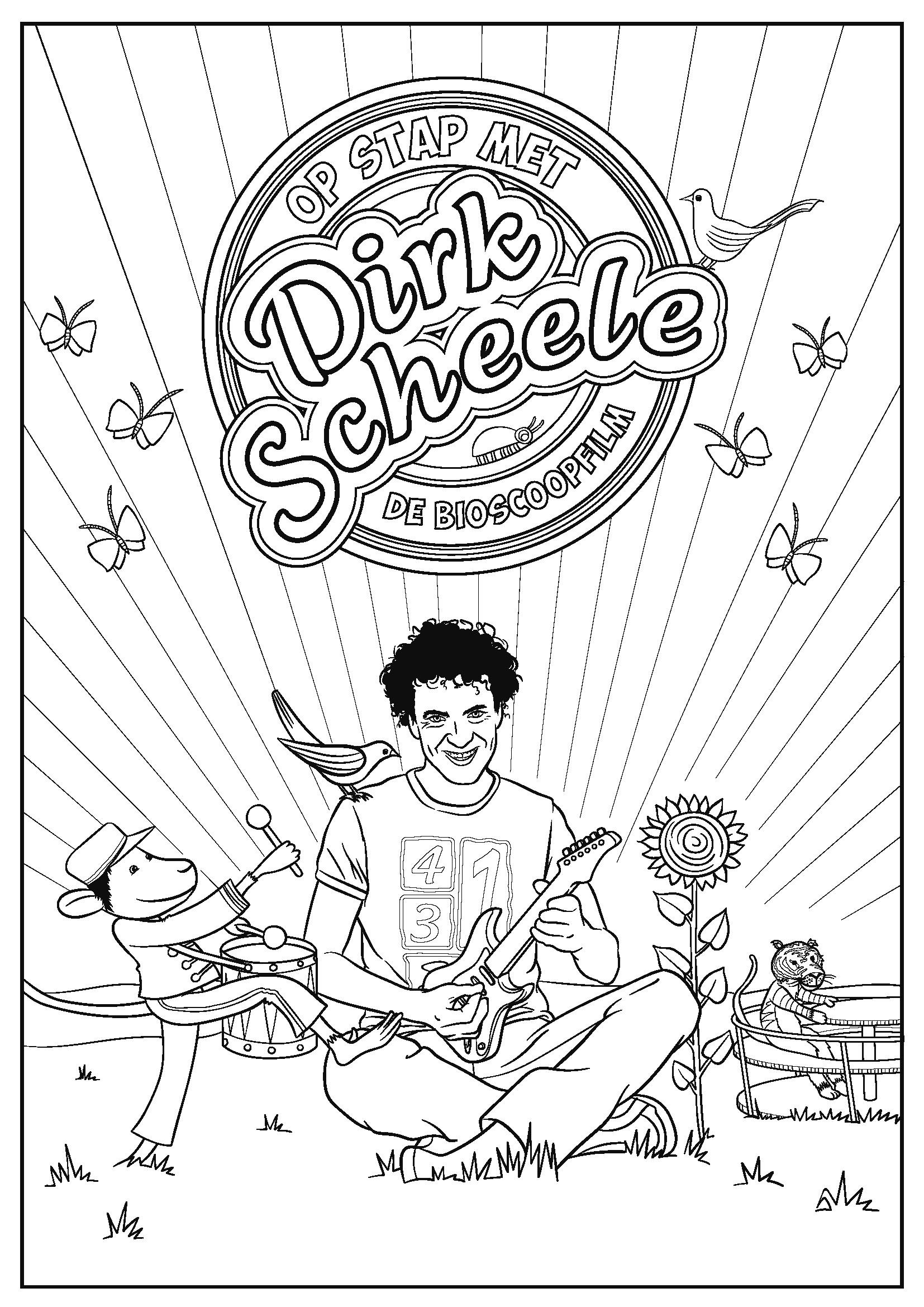 Dirk Scheele kleurplaat